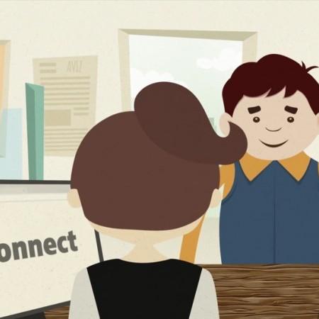 Elaborarea spotului animat MConnect