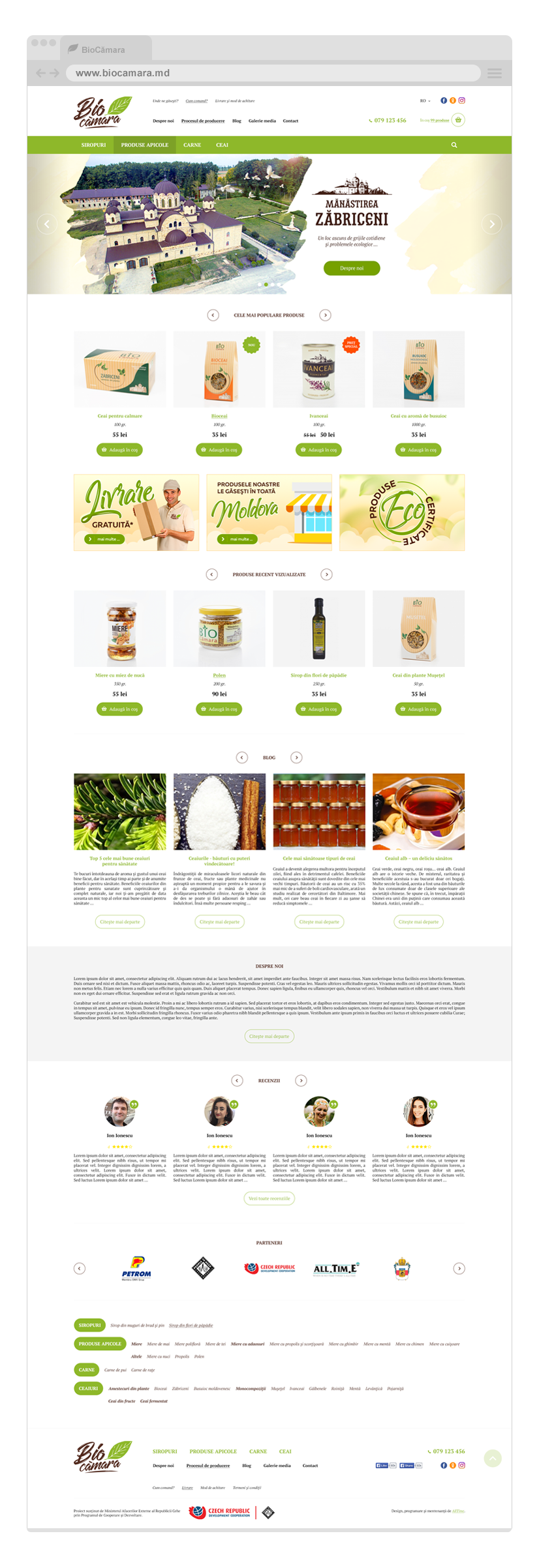 Biocămara – website elaboration