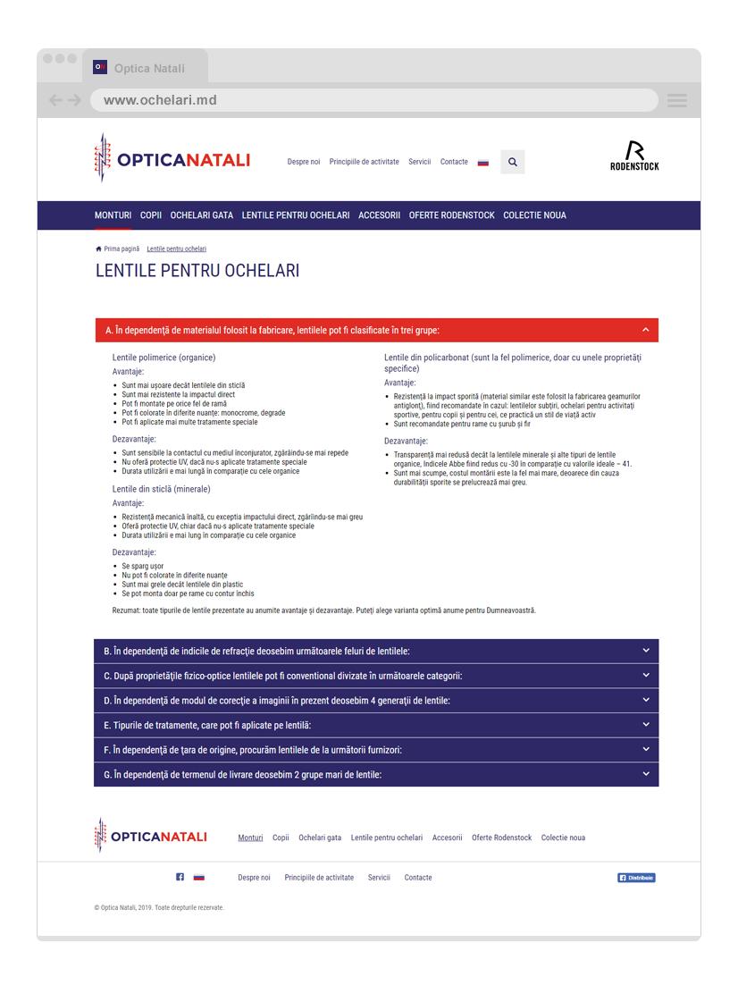 Online catalog elaborated