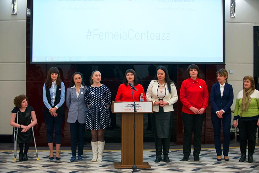 """Forumul public """"Femeile contează"""""""